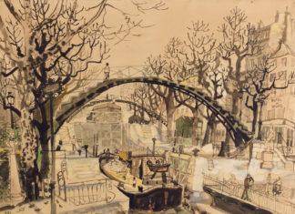 dany-lartigue-paris-canal-saint-martin-pont-ecluse-peinture-aquarelle