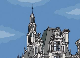 paris-mairie-10eme-arrondissement-rue-du-faubourg-saint-martin-illustration-facade
